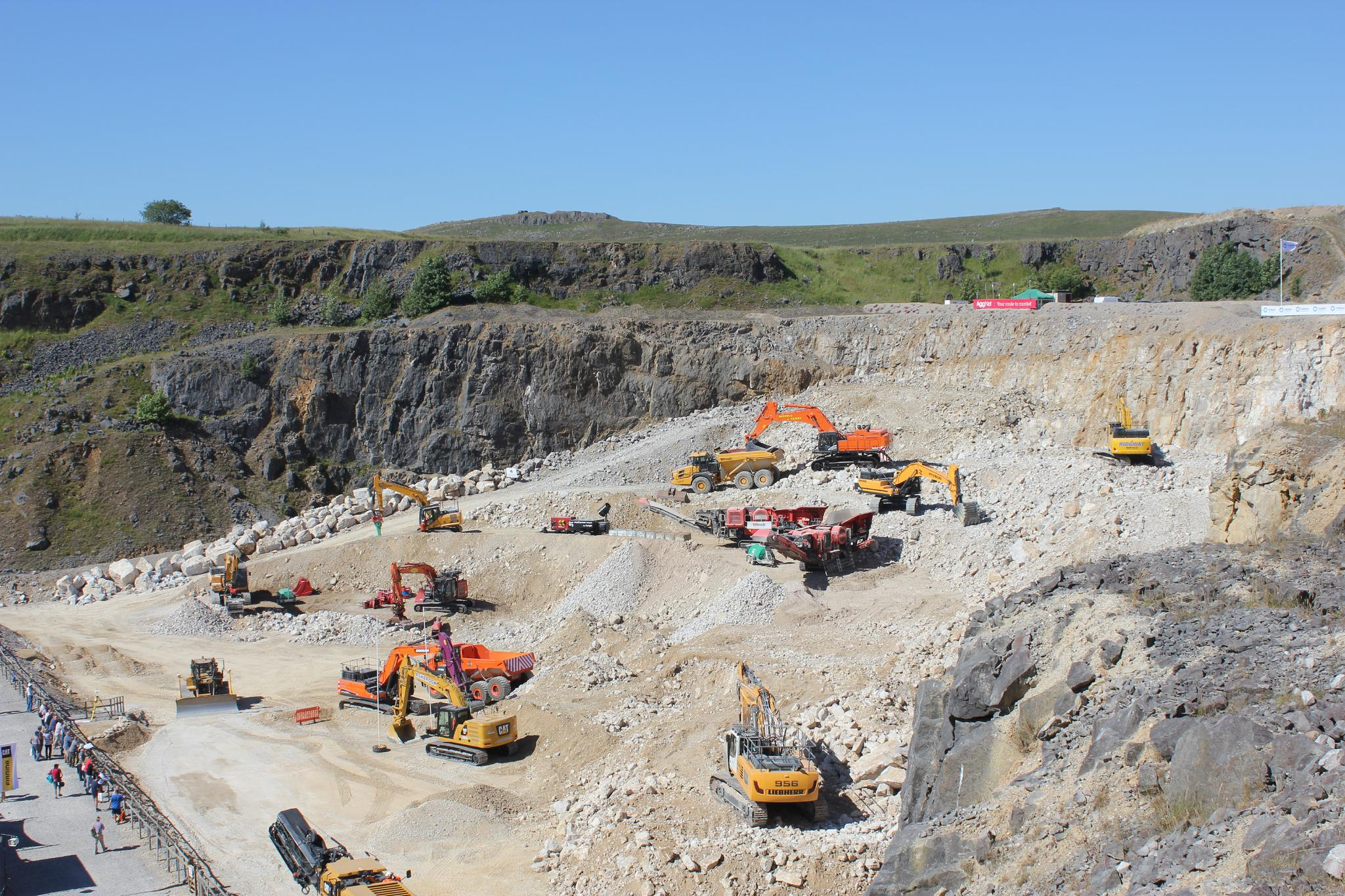 View of the Quarry Face Demonstration area at Hillhead